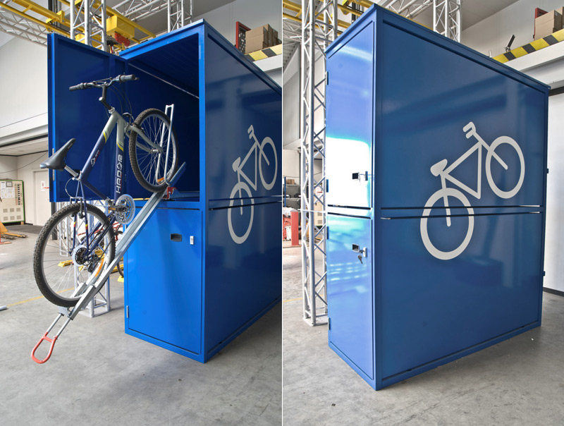Box garage per biciclette for Piani porta garage gratuiti