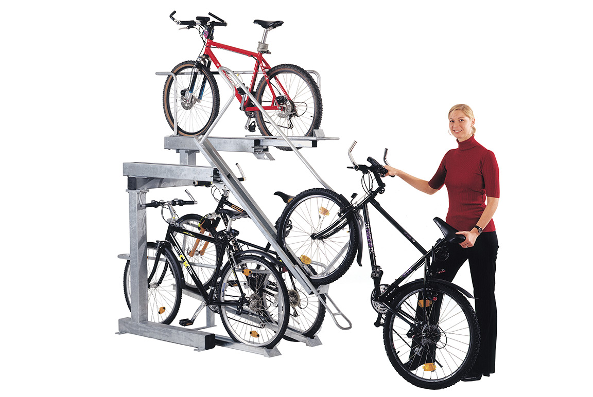Parcheggio per bici a due livelli